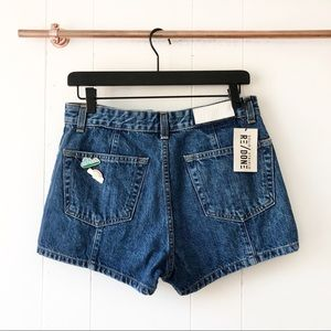 NWT Re/Done Levi's The Venice Pintuck Debim Shorts